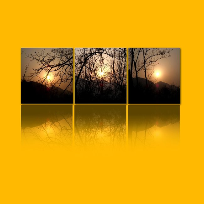 夕阳 日落 风景 风景图 风景背景 风景画图片 无框画 装饰画