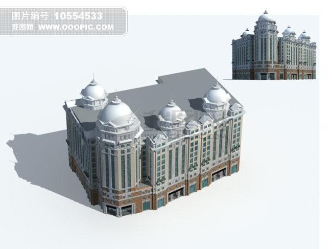 欧式风格建筑模型模板下载(图片编号:10554533)