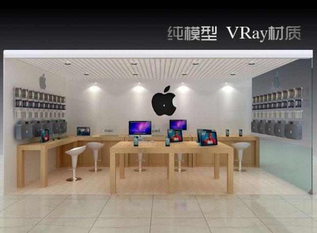 3d模型 室内设计3d模型 展台|展厅模型 > 苹果新式体验店  下一张&nbs