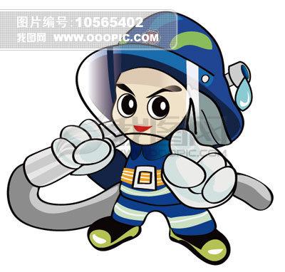 手绘矢量卡通消防员模板下载(图片编号:10565402)