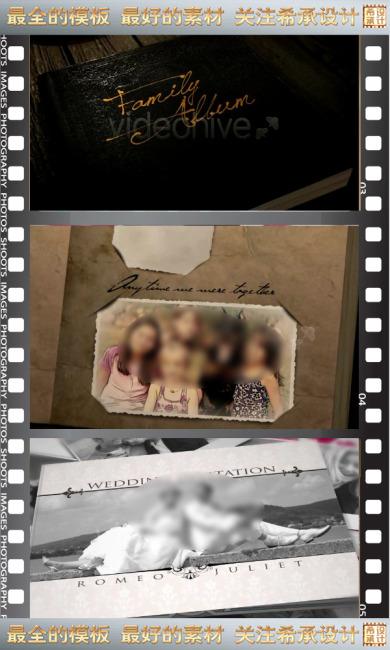 ae高清古典浪漫电子相册视频工程带音乐图片