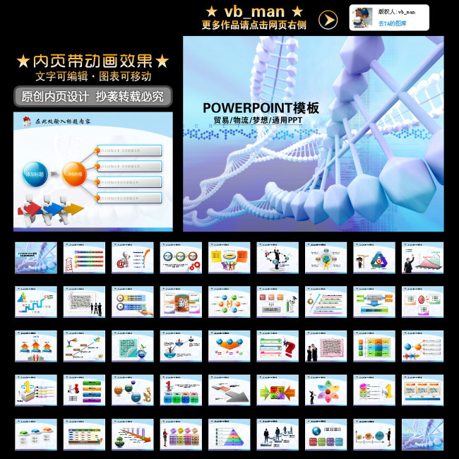 基因科学dna化学报告论文ppt幻灯片模板下载