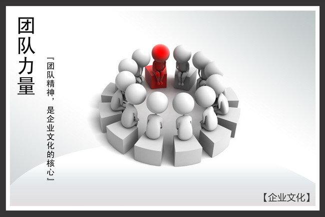 【psd】企业文化展板海报团队力量图片