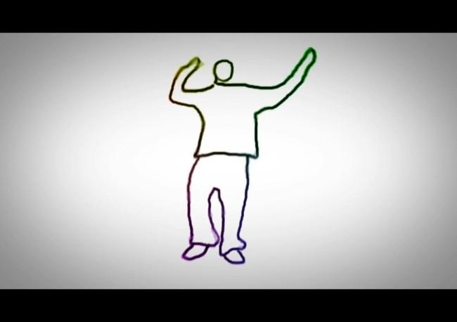 手绘跳舞动画视频