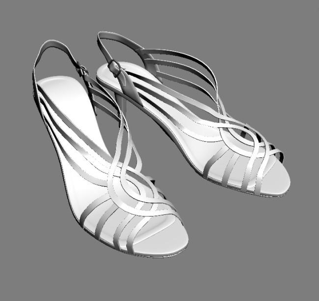 3d鞋模型模板下载 3d鞋模型图片下载