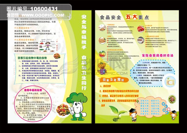 彩页|dm > 食品安全宣传单设计  [版权图片] 食品安全宣传单设计模板