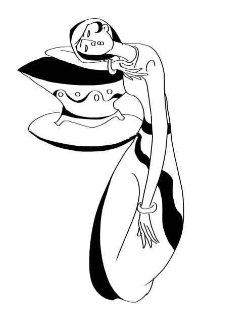 人物黑白装饰图片