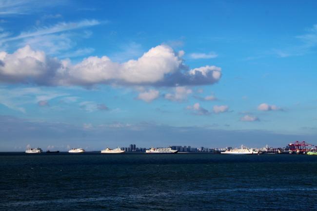 海口港湾模板下载 海口港湾图片下载 海南 海口 海边 港口 秀英 西