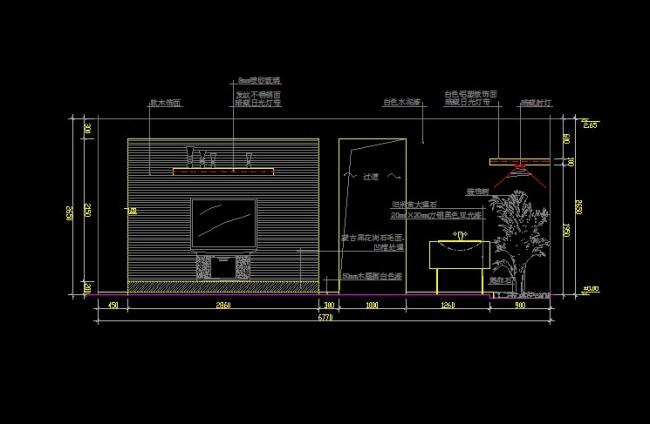cad电视背景墙设计