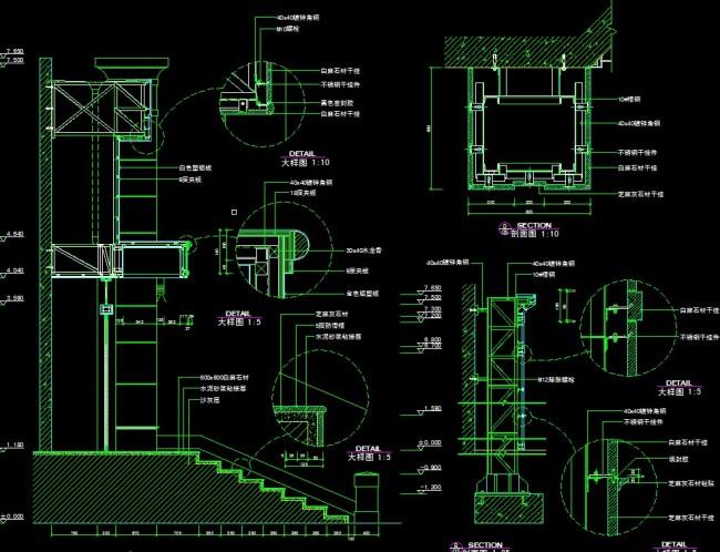 cad节点图怎么画_CAD节点图模板下载图片编号10622157_CA