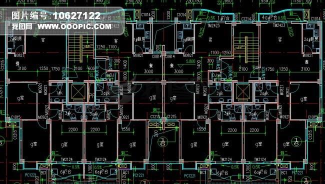 cad室内布局图模板下载(图片编号:10627122)