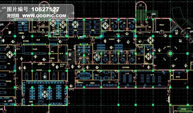 cad室内布局图模板下载(图片编号:10627127)