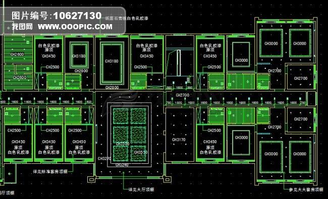 cad室内布局图模板下载(图片编号:10627130)