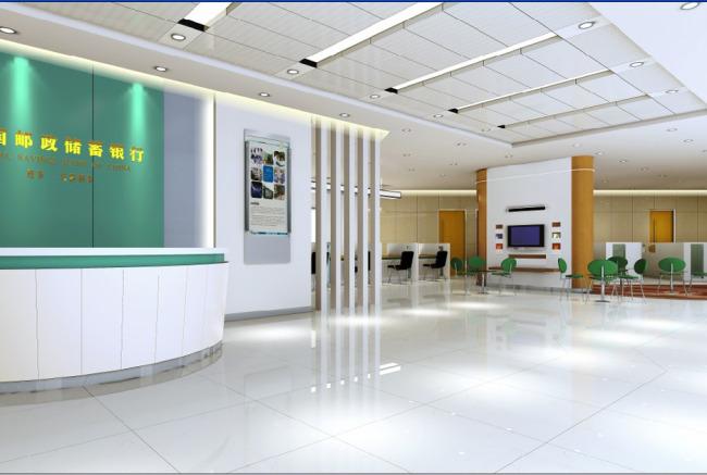 效果图 营业厅/营业厅大厅效果图3D模型模版