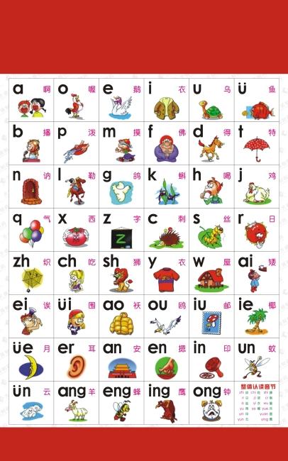 儿童认字表