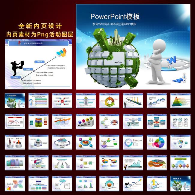 电子科技商务ppt模板设计
