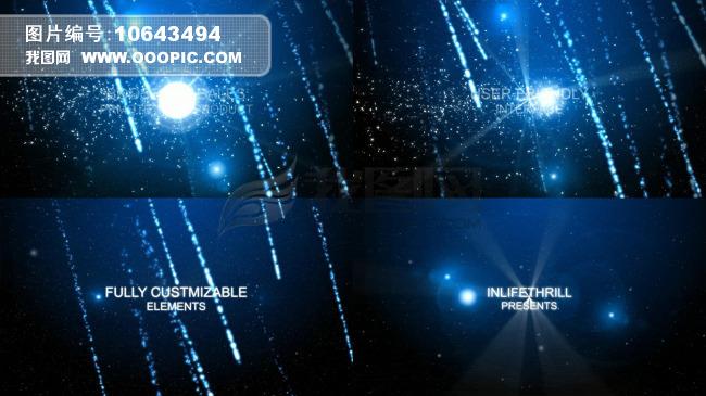 蓝色粒子雨汇聚文字展示ae模版模板下载(图片编号:)