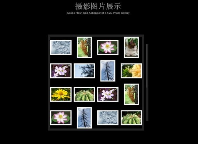 ui设计 网页设计模板 其他flash源文件 > flash xml摄影照片相册源