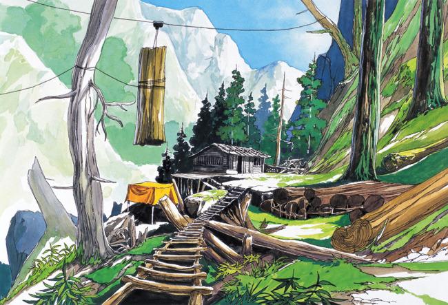 手绘背景 漫画 漫画风景 插画 背景 手绘 游戏场景 水彩画 手绘景观