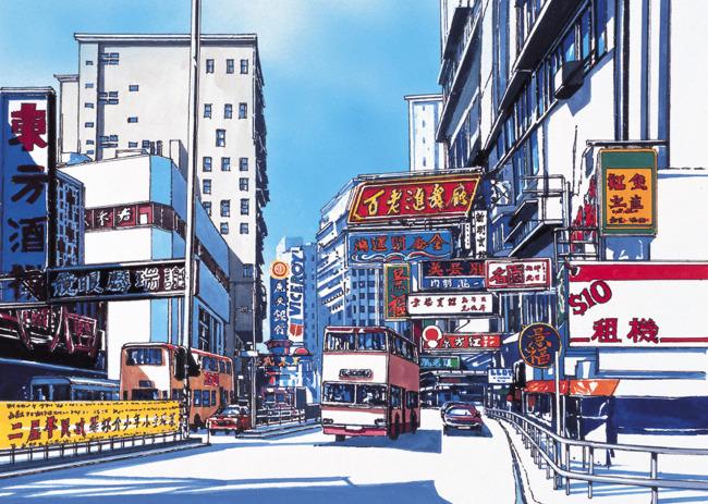 城镇风景插画