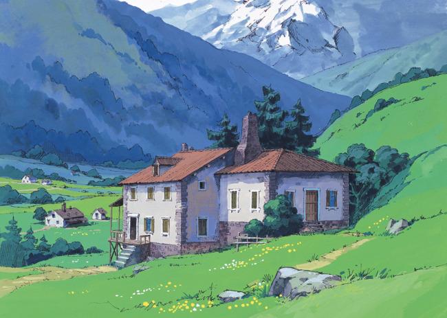 手绘游戏房子贴图