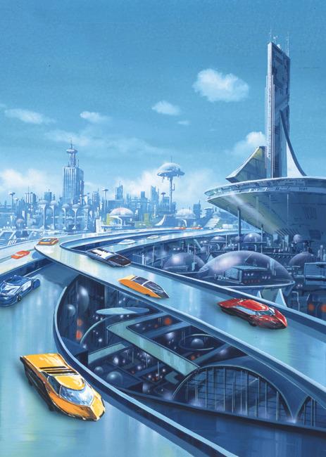 未来城市插画