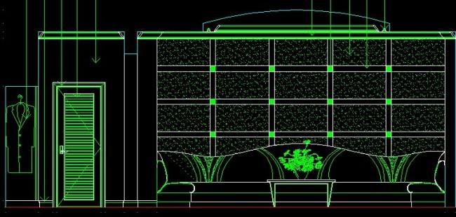 ktv手绘室内平面图