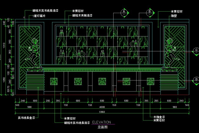 cad图库 室内设计cad图库 酒店宾馆cad施工图 > 吧台平面图  下一张&