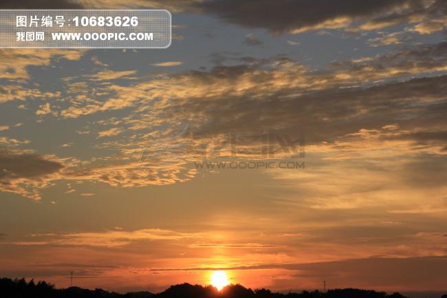 初升的太阳图片素材