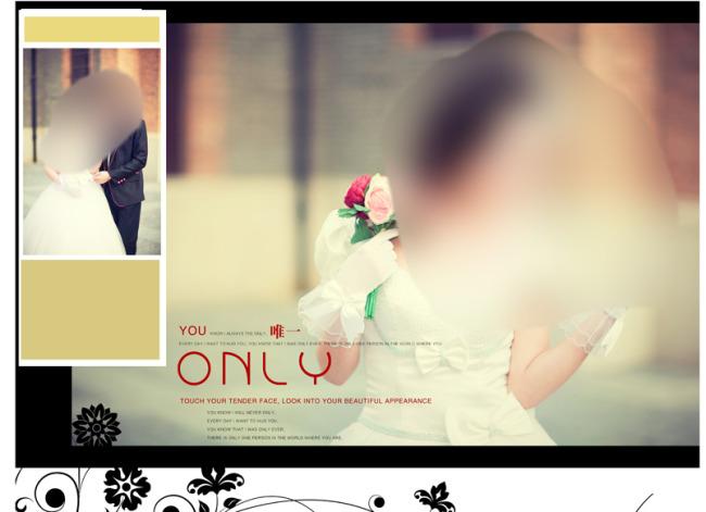 时尚婚纱写真相册psd素材模板