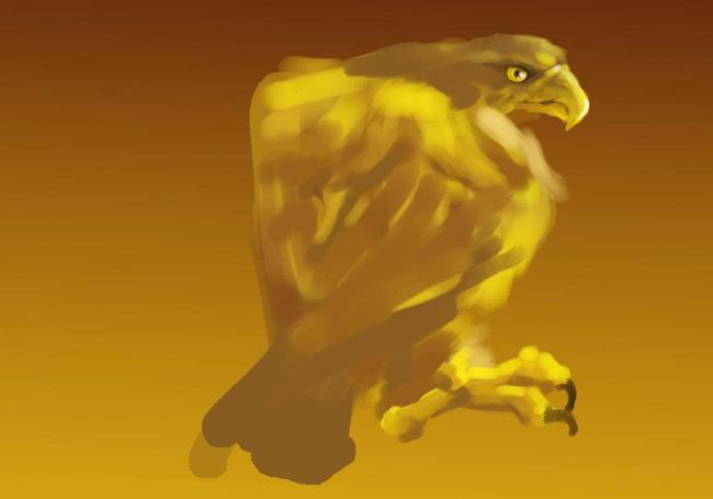老鹰手绘图
