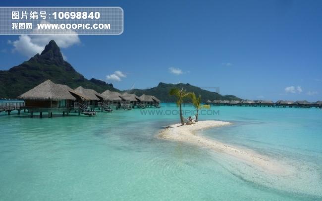 海岸 湾 波拉岛 高清摄影图片背景图片素材(图片编号