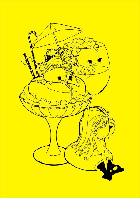 冰淇淋线条图片