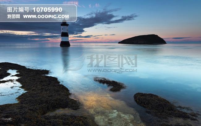 灯塔 夜景 大海图片下载 夜晚 夜景 大海 海洋 礁石 海景 灯塔 自然