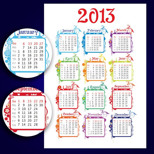 2013蛇年年历表台历表图片