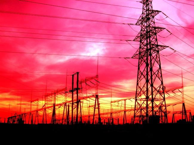 输电铁塔图片下载 输电铁塔 输电线路 高压线 电力设备 夕阳 晚霞