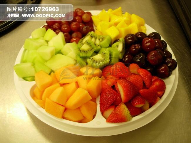 水果拼盘草莓樱桃猕猴桃奇异果木瓜可口美食美味高清摄影精致静物背