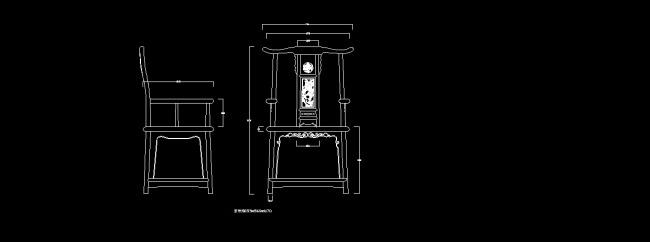 cad图库 室内设计cad图库 家具cad图纸 > 红木家具官帽椅  下一张&
