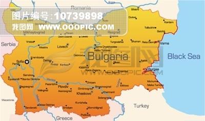 矢量西欧国家地图素材