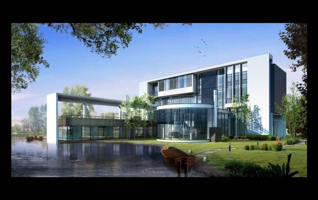 室外建筑景观效果图2