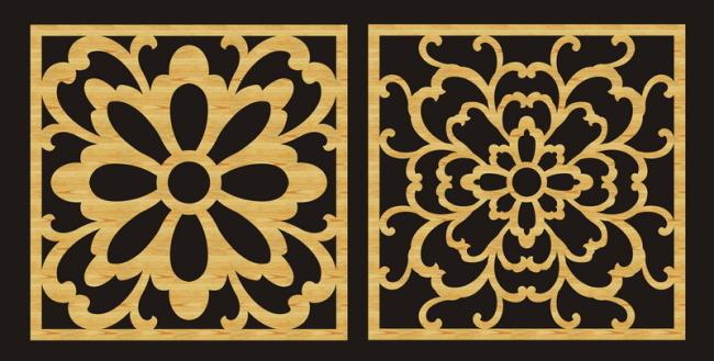 花纹 雕刻/雕刻镂空花纹矢量图