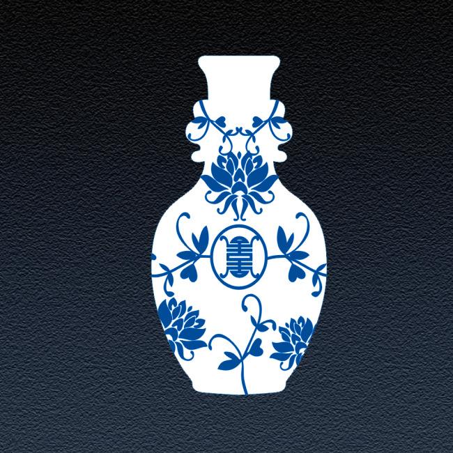 青花瓷花纹花瓶