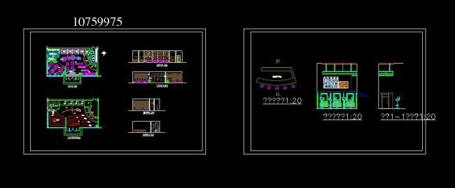 咖啡厅设计图cad模板下载