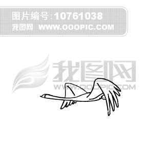 手绘鹤飞行动画
