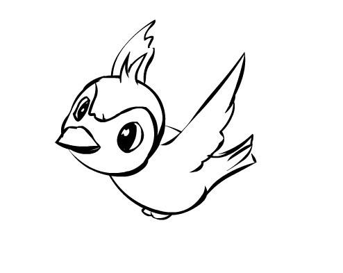 手绘小鸟飞行动画