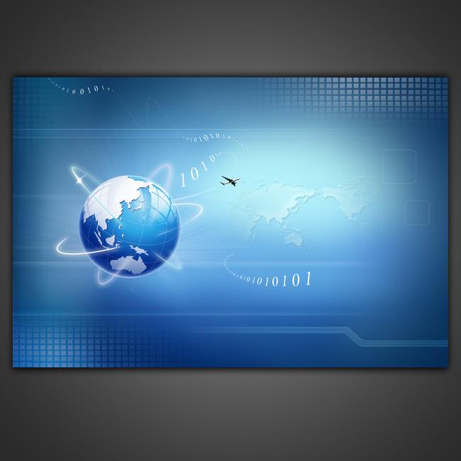 【psd】蓝色科技高清海报背景模板设计