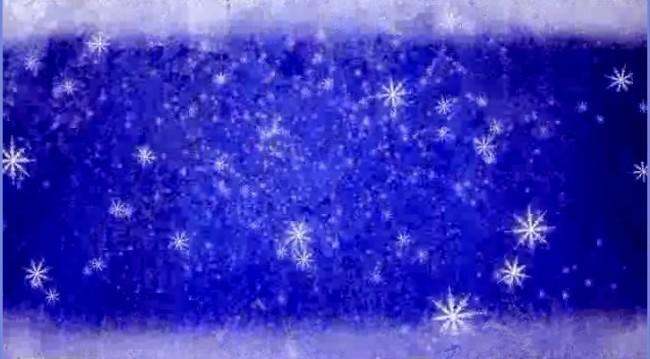 会声会影相框模板; hd高清下雪景象蓝底边框视频素材
