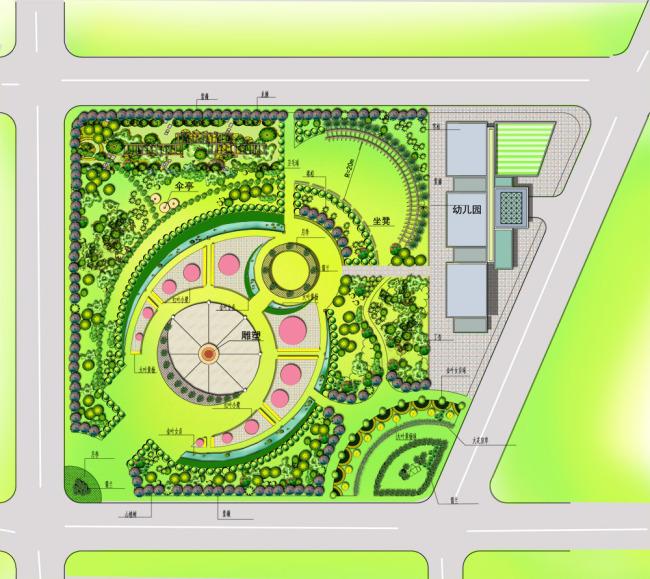 地产景观设计平面分层效果图图片
