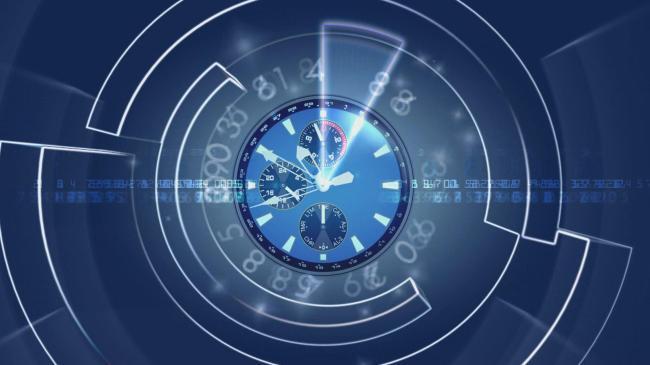 时间流逝着,钟表转动视频素材图片