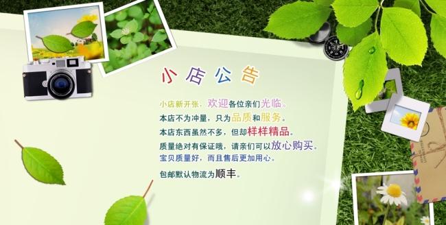 树林淘宝公告模板下载 树林淘宝公告图片下载 店铺公告 淘宝 公告栏
